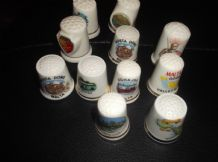 11 X ELEGANT BONE CHINA THIMBLES COLLECTION FROM MALTA ALL DIFFERENT